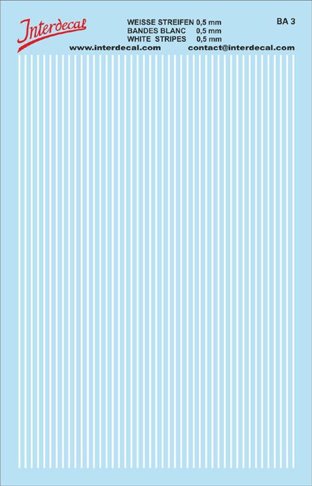 Stripes  0,5mm  white (90x140 mm)