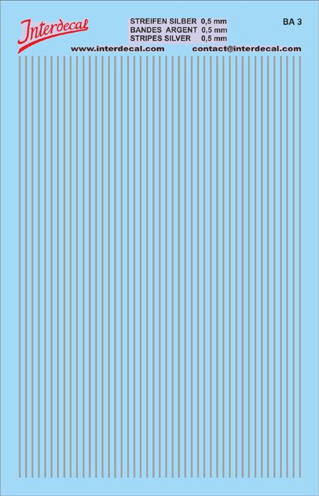 Streifen 0,5 mm  silber (90x140 mm)
