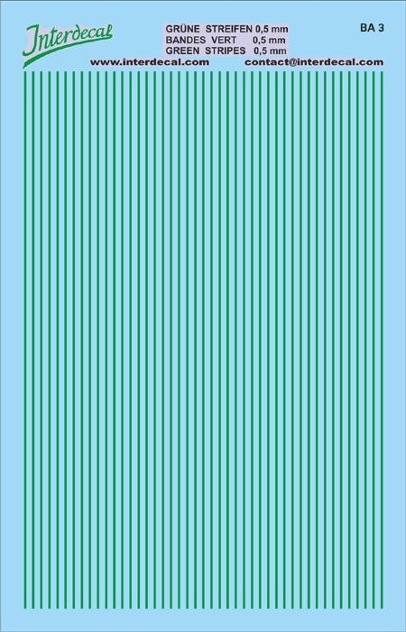 Streifen 0,5 mm  grün (90x140 mm)