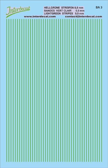 Streifen 0,5 mm  hellgrün (90x140 mm)