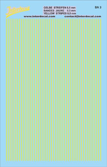 Streifen 0,5 mm  gelb (90x140 mm)