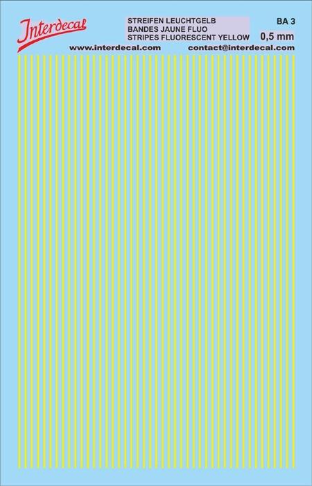 Streifen 0,5 mm  leuchtgelb (90x140 mm)