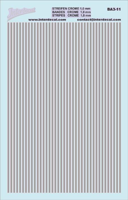Streifen 1,0 mm chromeffekt (90x140 mm)