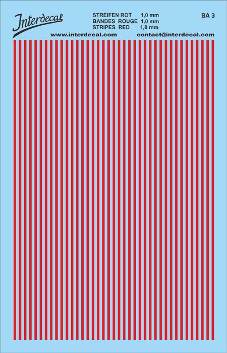 Streifen 1,0 mm  rot (90x140 mm)