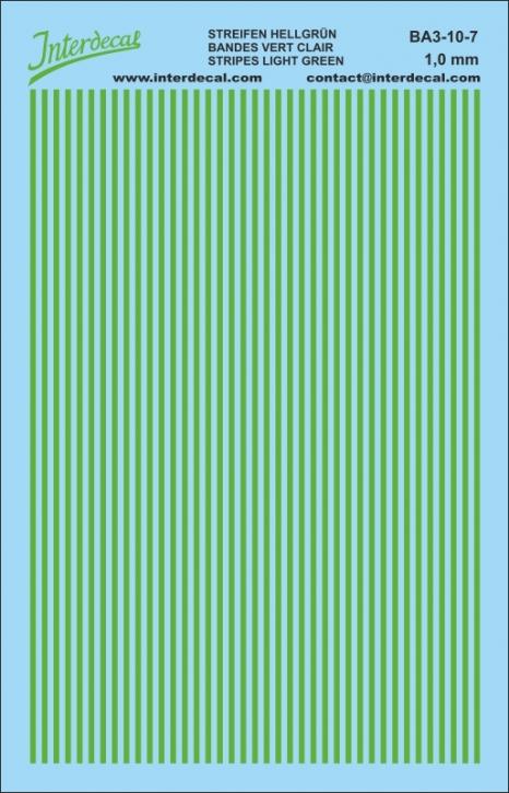 Streifen 1,0 mm hellgrün (90x140 mm)