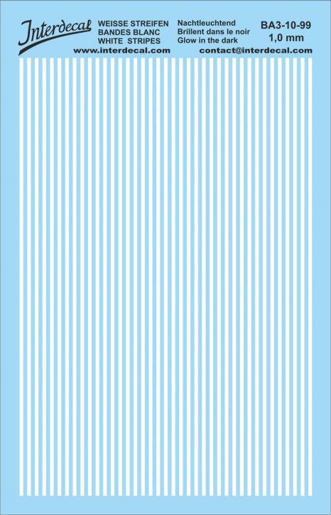Streifen 1,0 mm  phosphoreszierend (90x140 mm)