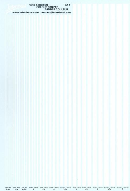 Stripes  0,25 - 5,0 mm  white (130x190 mm)