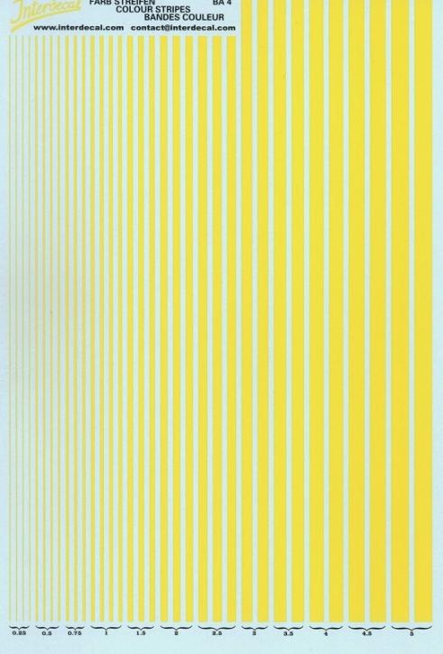 Streifen  0,25 - 5,0 mm  gelb (130x190 mm)