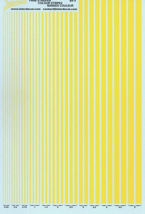 Stripes  0,25 - 5,0 mm  yellow (130x190 mm)