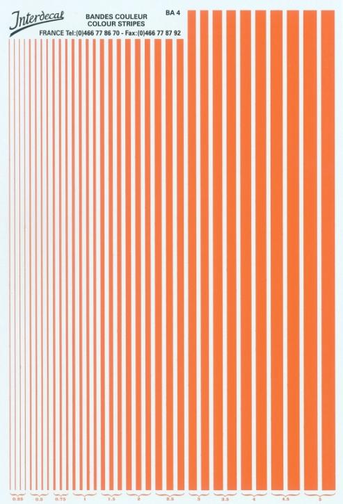 Streifen  0,25 - 5,0 mm  orange (130x190 mm)
