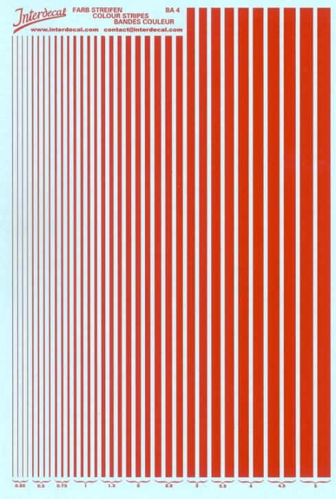 Stripes  0,25 - 5,0 mm  red (130x190 mm)
