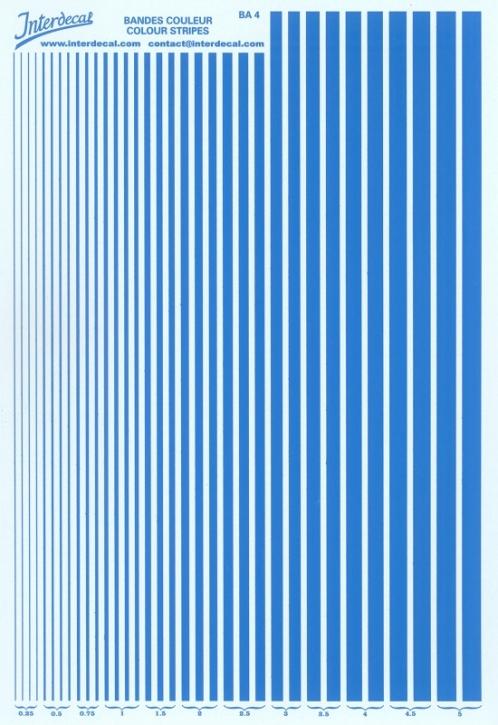 Stripes  0,25 - 5,0 mm  mid blue (130x190 mm)