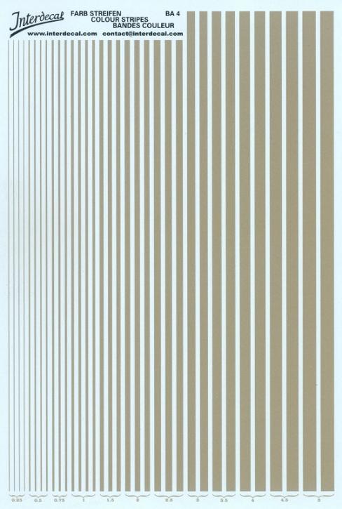 Stripes  0,25 - 5,0 mm  gold (130x190 mm)