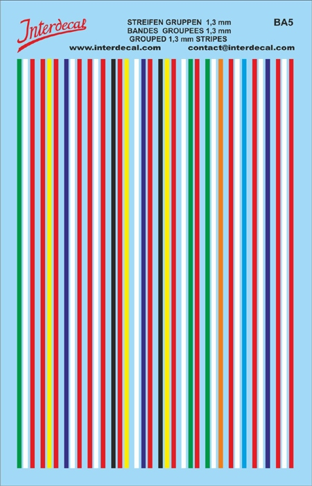 Stripe groups (flags) combinations (95 x140 mm)