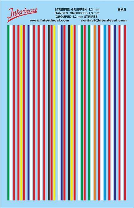 Streifen Gruppe (Flaggen) Farbkombinationen (90x140 mm)