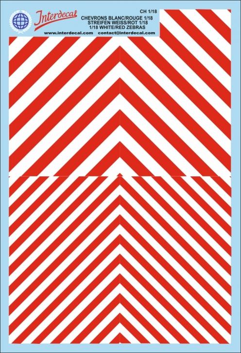 Warnstreifen 1/18 (190 x 130 mm) rot/weiss