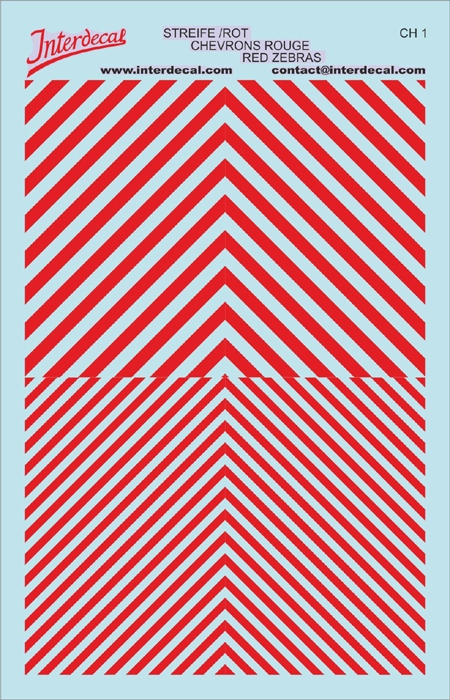 Warnstreifen 1/43 (90 x140 mm) rot 1/43