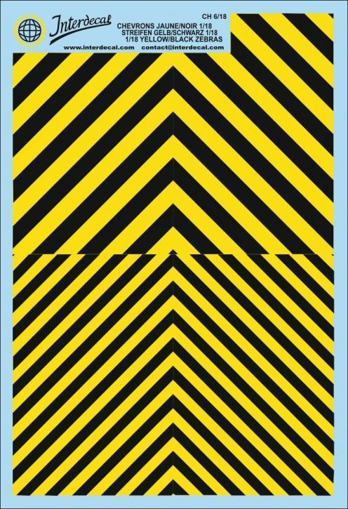 Warnstreifen 1/18 (190 x 130 mm) gelb-schwarz