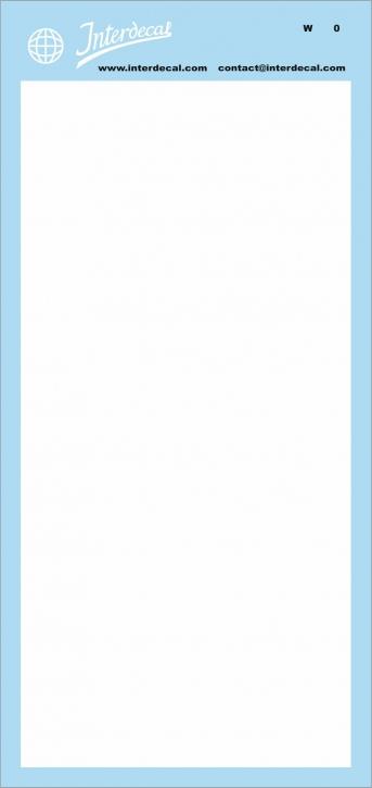 Bogen einfarbig (190x90 mm) weiss matt (INT-CO01-W0)