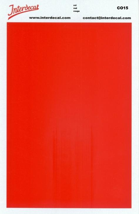 solid color plates (90 x140 mm) vermilion