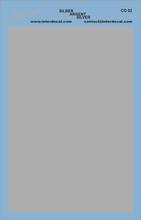 Bogen einfarbig (95 x140 mm) silber