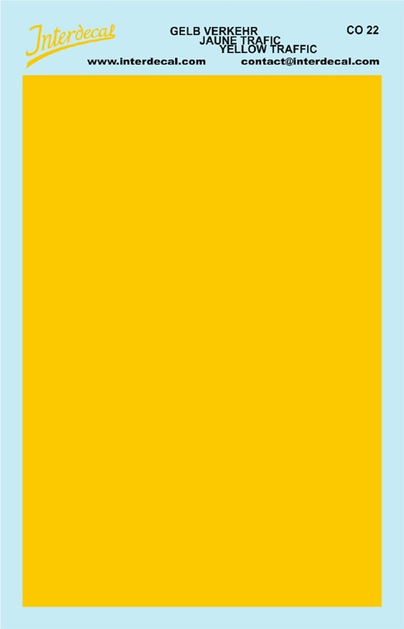solid color plates (95 x140 mm) trafficyellow