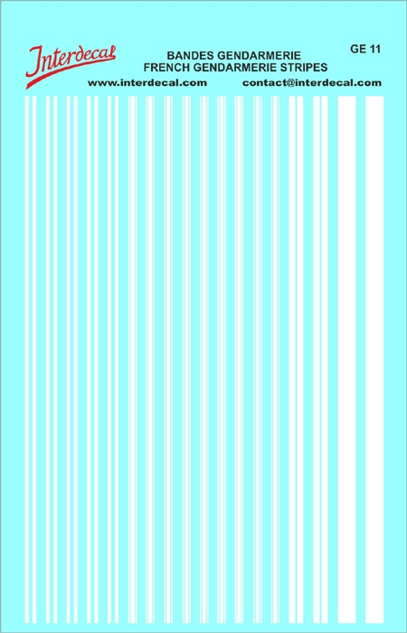 Stripes French Police (140x90 mm)