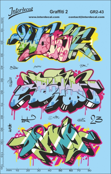 Graffiti 2 Decal 1/43 (140 x 90 mm)