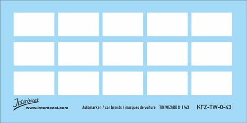 Carbrands  white   1/43  (90x53 mm)
