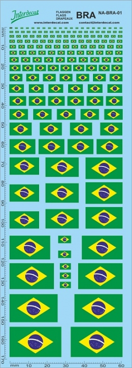 Flaggen Brasilien Decal (180x70 mm)