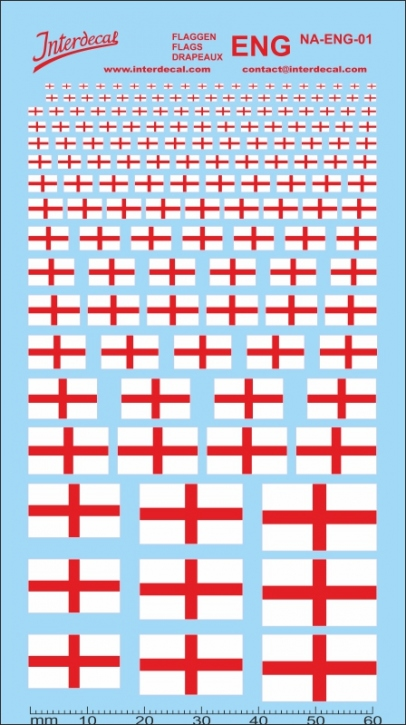 Flags England Decal (120x70 mm)