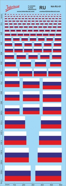Flaggen Russland Decal (180x70 mm)