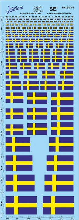 Flaggen Schweden Decal (180x70 mm)