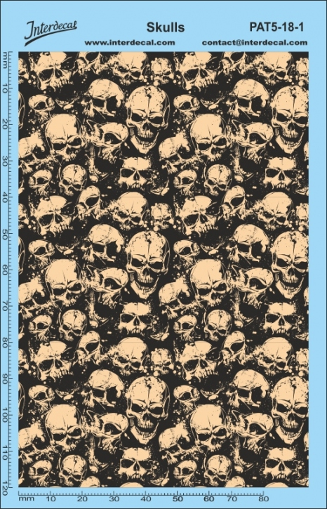 Stickerbomb Skull Pattern Decal (140 x 90 mm)