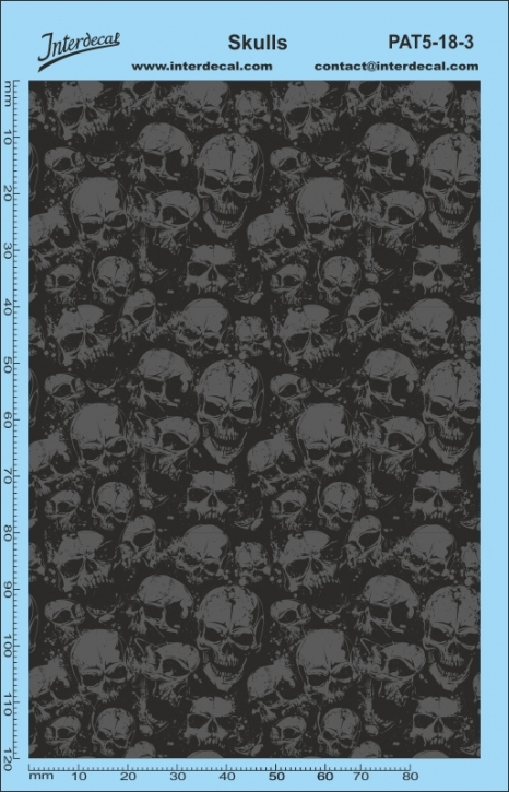 Stickerbomb Skull Muster Decal (140 x 90 mm)
