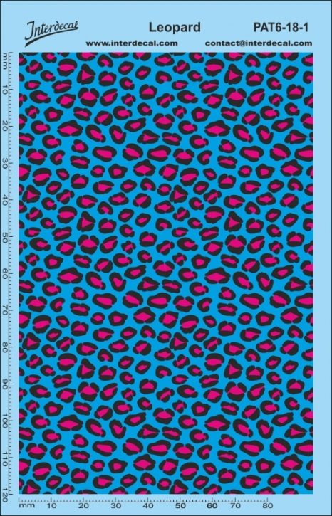 Stickerbomb leopard Pattern Decal (140 x 90 mm)