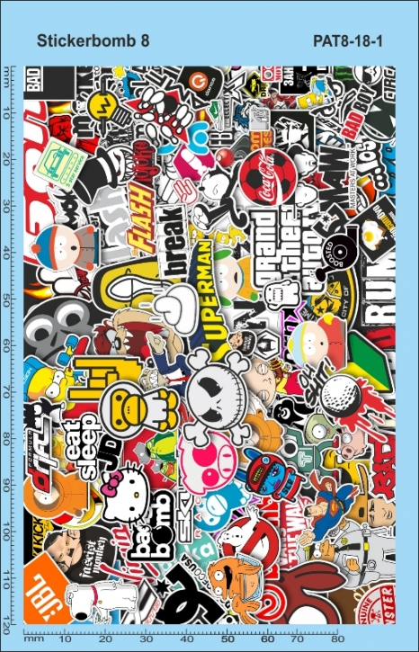 Stickerbomb 8 Decal (140 x 90 mm)