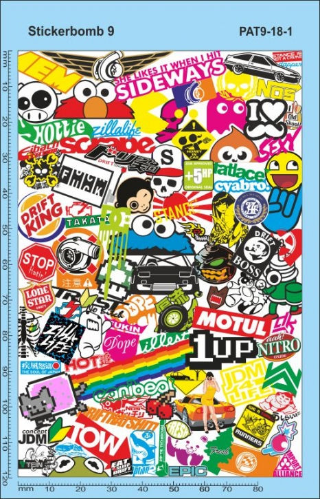 Stickerbomb 9 Decal (140 x 90 mm)