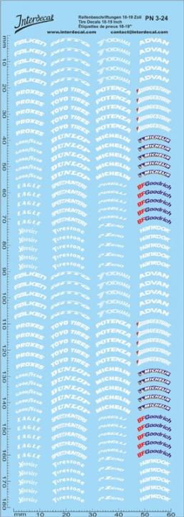 Reifenbeschriftungen Decal 3 18-19 Zoll 1/24  (180x60 mm)