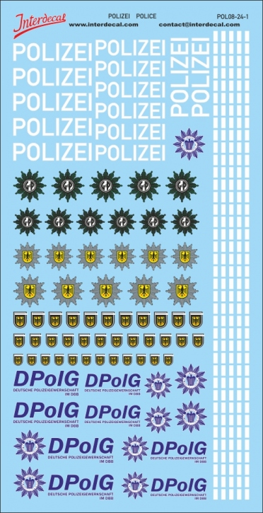 Polizei German Police 1/24 (190x90 mm)