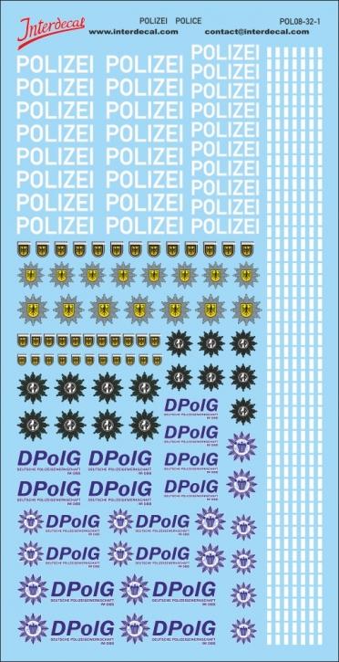 Polizei Logos und Gaps 1/32 (190x90 mm)