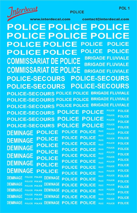 Police   (140x90 mm)