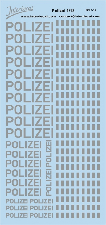 Polizei German Police 1/18 (190x90 mm)