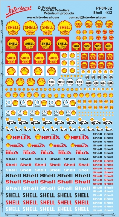 Öl Produkte 4 Shell Sponsoren Decal 1/32 (200x110 mm)