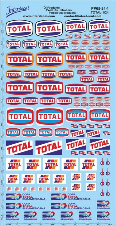 Petroleum products 5-1 TOTAL sponsors Decal 1/24 (195x100 mm)