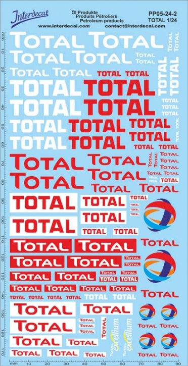 Petroleum products 5-2 TOTAL sponsors Decal 1/24 (195x100 mm)