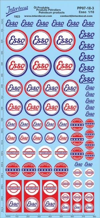 Öl Produkte 7-3 ESSO Sponsoren Decal 1/18 (195x90 mm)