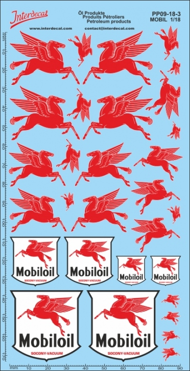 Petroleum products  09-3 MOBIL sponsors Decal 1/18 (195x100 mm)