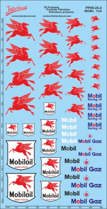 Petroleum products 9-2 Mobil sponsors Decal 1/24 (200x100 mm)