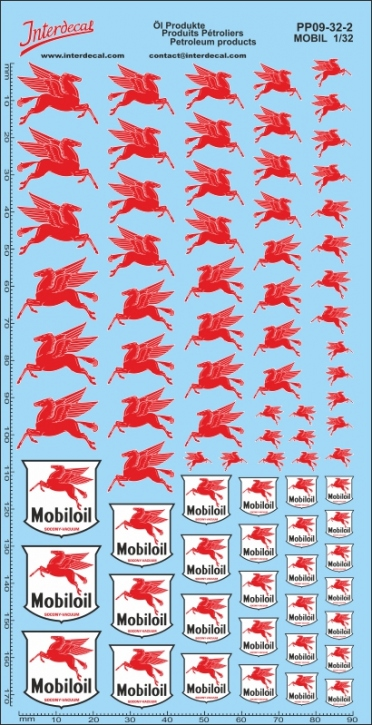 Öl Produkte 9-2 Mobil Sponsoren Decal 1/32 (200x100 mm)